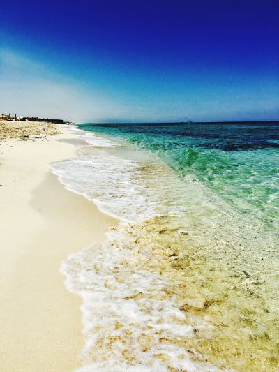 Sea Beauty In Nature Beach Sand Nature Blue No People Horizon Over Water Clear Sky Day Sky Clear Sky Outdoors Tranquil Scene Beauty In Nature Beautiful Sunny Sunnyday Sunnyday☀️ Nature Summer Summertime Summer Views Summer2017