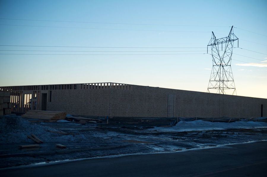 Fargo, North Dakota / February 19, 2016 Architecture Bridge - Man Made Structure Built Structure Cable Cold Temperature Connection Electricity  Electricity Pylon Engineering Fargo Leading Long North Dakota Outdoors Power Line  Railing South Fargo SUPPORT The Way Forward