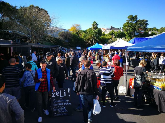At the market in Parnell on Sunday morning. Large Group Of People Men Women People Crowd Market Marketplace Parnell Auckland LaCigaleAuckland NZ New Zealand Newzealand HuaweiP10