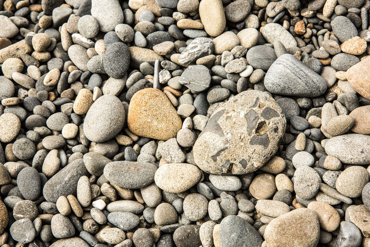 Stand Out From The Crowd Stand Out Abundance Backgrounds Beach Beach Pollution Close-up Day Directly Above Full Frame High Angle View Land Large Group Of Objects Nature No People Out Of Place  Pebble Portrait Rock Rock - Object Solid Stone Stone - Object Textured