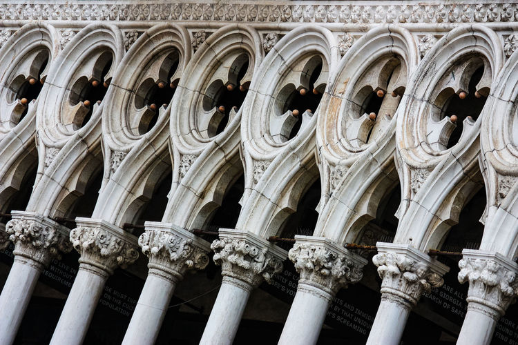 Low angle view of ornate building