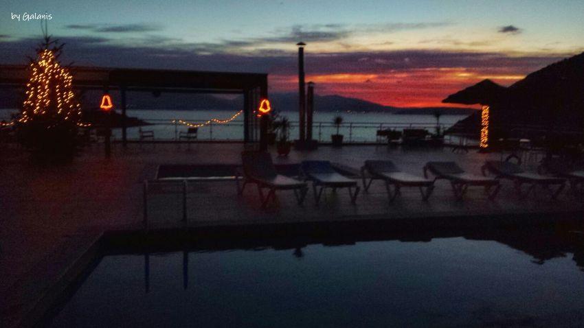 Night Reflection Water Illuminated Dusk Outdoors Sky