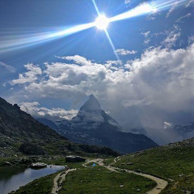 Matterhorn  Sun Sun And Mountains Mountain Sky Architecture Mountain Range Rocky Mountains