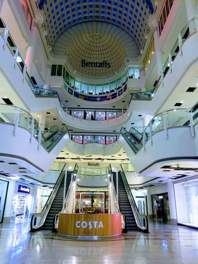 Costa Shopping Mall Architecture Built Structure Modern Bentalls Shopping Centre Kingston Upon Thames Surrey Shopping