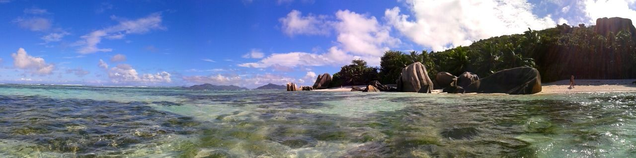 sky, sea, cloud - sky, nature, water, rock - object, beauty in nature, scenics, outdoors, panoramic, day, horizon over water, no people