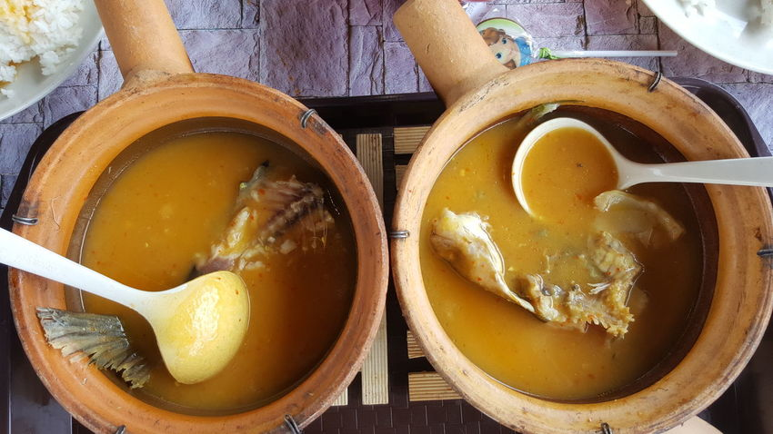 Traditional cooking style Traditional Cooking KUANTAN MALAYSIA Pahang Fish Patin Tempoyak EyeEm Selects Directly Above Egg Yolk High Angle View Close-up Food And Drink Indian Food Curry