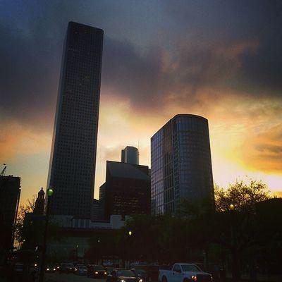 Houston Downtown Skyscrapers Architecture HistoricDristict Texas Skyline Sunset
