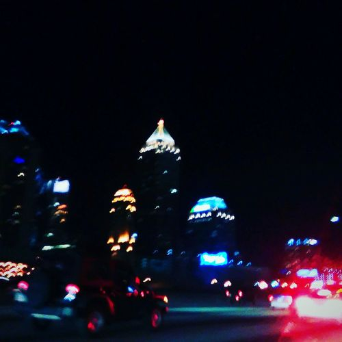 City Life Cityscapes City Lights Atlanta At Night