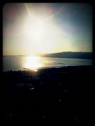 Enjoying The Sunset With Wine
