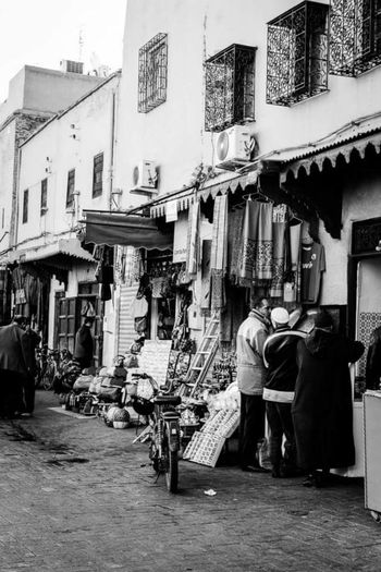 Trade Market Morocco People Traveling Black And White Streetphotography
