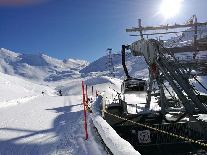 Ski Ischgl 2017 Snow Winter Sunlight Blue Sky Outdoors Day Mountain Cold Temperature Scenics Ski Lift Nature No People First Eyeem Photo