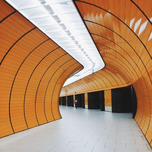 Munich Underground Cityscapes City Lines Light Architecture