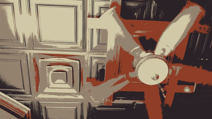 Light, Fan Indoors  Architecture No People Indoors Architectural Detail Modern Low Angle View