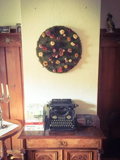 Flower Art Art Work Wall Art Typewriter