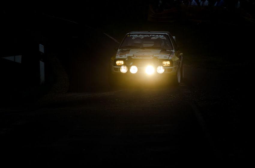 Audi Audi Quattro Car Dark Illuminated Land Vehicle Motorsport Night Outdoors Quattro Rallye Rallye Car