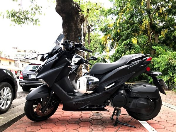 Motorcycle Transportation Tree Land Vehicle Stationary No People Day Outdoors