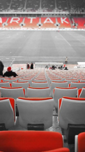 Sport Stadium Competition Day Sports Venue Russia россия Moscow, Москва City Life Red, Black And White Colour Spartak Moscow Football Professional Sport Match - Sport Stadium
