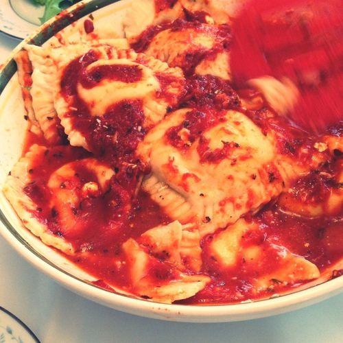 Giant, homemade ravioli!