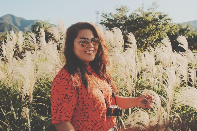 Best moment to smile and smile. portrait of a friend Smile Grass Flowers,Plants & Garden Women Portrait Of A Woman Japan Photography Portraits Of EyeEm Portrait Photography Millenials One Person Smiling Plant Real People Lifestyles Glasses Young Adult Portrait Nature Happiness Leisure Activity Growth Sunlight Young Women Front View Day Sky Casual Clothing Looking At Camera Fashion This Is Natural Beauty