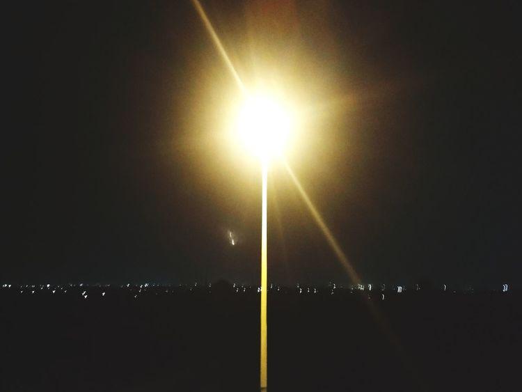 Anesthetic Lamppost Cityline Lights Night Sky Night Illuminated Sky Tranquil Scene
