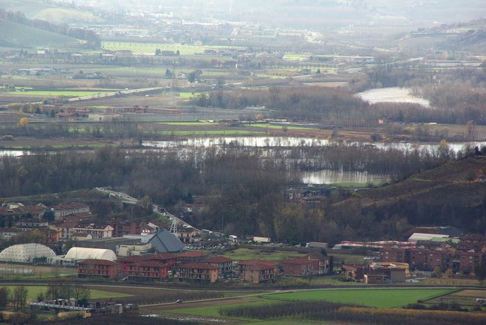 Aerial View Agriculture Alluvione Building Exterior City Cityscape Day Esondazione Landscape No People Outdoors Residential Building Social Issues Tanaro Tree