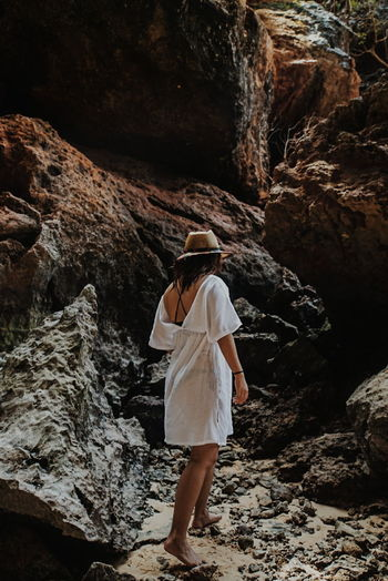 Exploring the Island Beach Beachphotography Beachphotography Rocks Limestone Exploring Exploring New Ground Exploring New Ground Thailand Travel Traveling One Woman Only Adults Only Adult People Full Length One Young Woman Only Summer Nature Outdoors Day Beautiful Woman