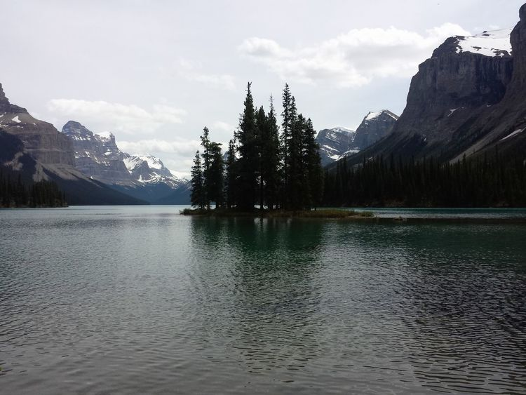 This photo was taken last June 2015. Spirit Island, Maligne Lake, Jasper National Park, Alberta. Shot in Samsung Galaxy S4. Alberta Canada Eyeem Canada Lake Landscape Maligne Lake Mobile Photography Nature Samsung Galaxy S4 Spirit Island Discover Alberta Travel Alberta