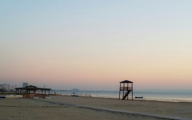Durres Albania Beach Sunset 2014