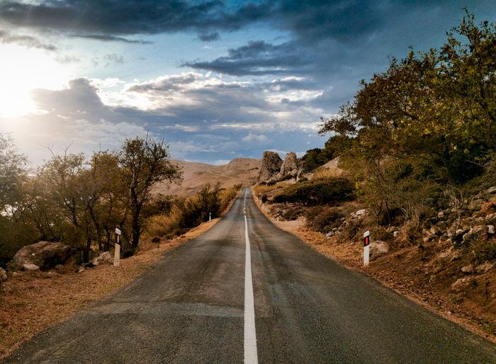 Empty road, straight road, amazing landscape, journey, trip.