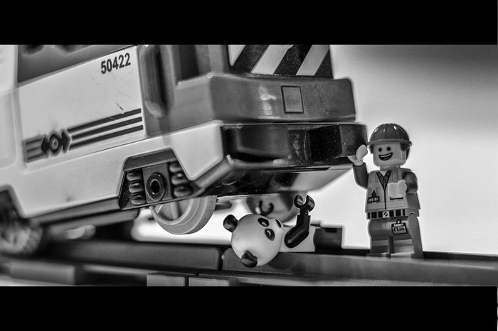 everybody can be a hero Panda On Tour has a danger situation but Emmet from The Lego Movie can help. emmet a normal buddy is the superhero.. Bnw_friday_eyeemchallenge