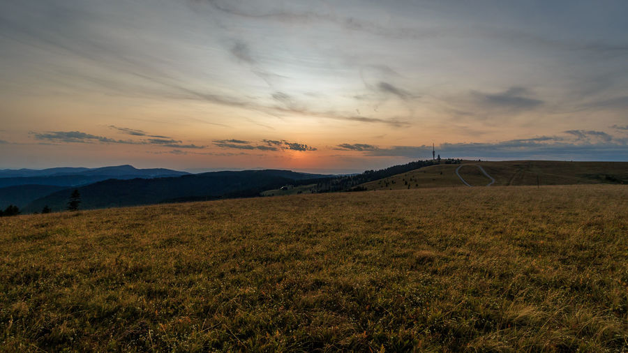 Sonnenuntergang auf dem Feldberg, fotografiert im August 2017 Beauty In Nature Cloud - Sky Day Grass Landscape Mountain Nature No People Outdoors Scenics Sky Sunset Tranquil Scene Tranquility