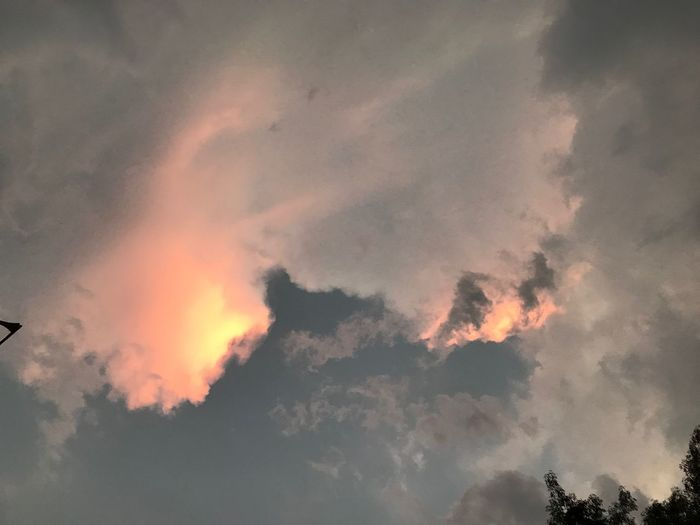 8 Pm Sunreflection Rainy Days Sunset Cloud - Sky Sky Beauty In Nature Low Angle View Orange Color Sunset Scenics - Nature No People Nature Tranquility Outdoors Silhouette Environment