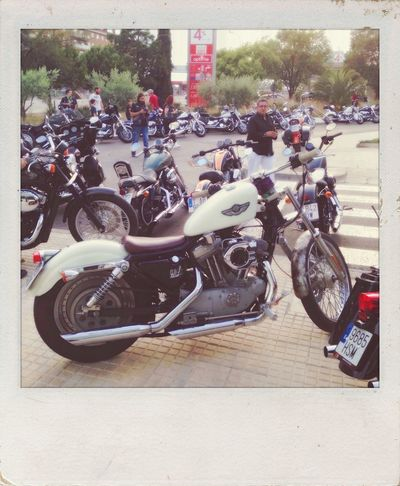 Taking Grandma out for a walk, she is so pretty for her age! Polamatic 31daychallenge day 28 IPhoneography Harleydavidson