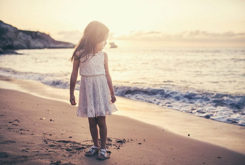 Glitch Flare Sea Sunset Child Kids Portrait Natural Light Beach Sand instagram: gangstapino fb: facebook.com/gterruso Theportraitist-2016eyeemawards