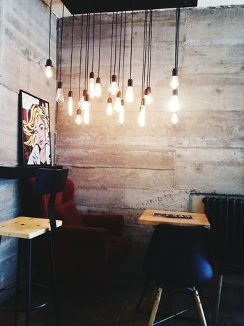 Lighting Lightbulbs Table Chairs Coffeplace PRISHTINA Kosovo