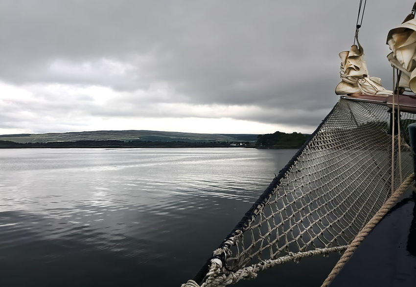Orkneys Scotland Tall Ship Beauty In Nature Cloud - Sky Jib Jib Net Scenics - Nature Sea Tranquil Scene Tranquility Water