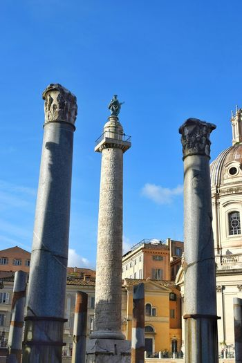 Trajan's Column Imperial Forum Church Architectural Column Old Ruin Business Finance And Industry Sky Architecture Close-up Civilization Ancient Civilization Ancient Historic The Past Ancient History Archaeology Ancient Rome