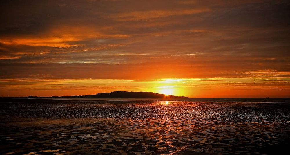 Irish Sunrise Howth Dublin Ireland Sunrise Sky Sea