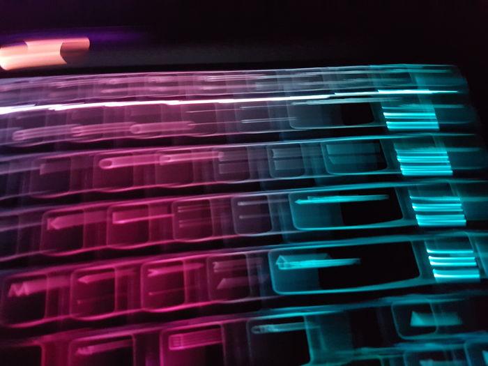 Close-up of illuminated electric light