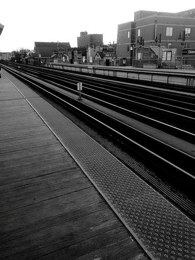 Chicago El Traintracks The El