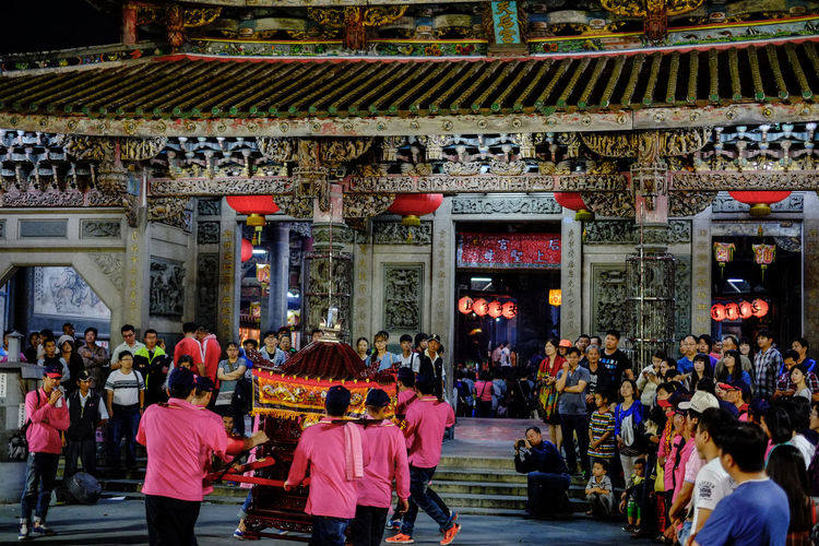 Night festival at Lukang, Taiwan. Lukang Taiwan Adult Adults Only Architecture Building Exterior Built Structure Crowd Day Large Group Of People Leisure Activity Lifestyles Men Outdoors People Place Of Worship Praying Real People Religion Spirituality Temple Travel Destinations Women