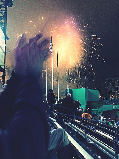 Still shining bright amidst the clapping and victory fireworks.