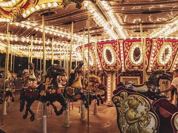 Amusement Park Illuminated Outdoors Wallpaper Merrygoround EyeEm Gallery