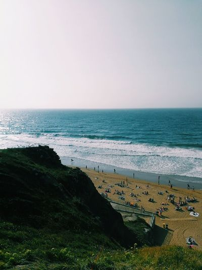 Sea Beach Horizon Over Water Water Nature Vacations Outdoors Beauty In Nature Scenics Tranquility Sand Landscape High Angle View Wave No People Travel Destinations Day Summer Sky Clear Sky Euskadi Spaın