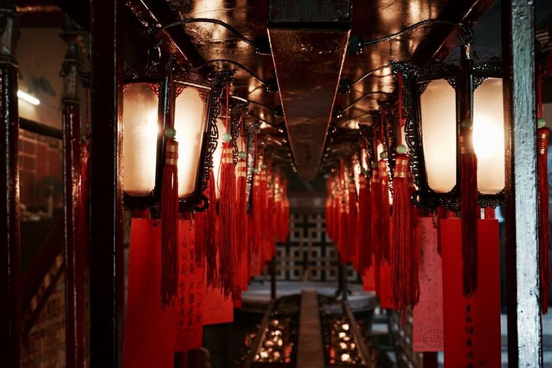 Hello World Hello Hong Kong Temple - Building Temple Man Mo Temple Lanterns Red Color Red Red Red! Close-up Real Life Indoors  Hello Asia Enjoying Life Eye For Details Chinese Temple Hello China Colorful Light ASIA