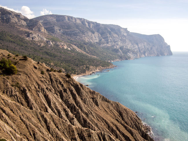 Aerial Perspective Balaklava Crimea Beach Beauty In Nature Cape Aya Cliff Coastline Crimea,Russia Day Eyeem Photo Gawlet Horizon Over Water Landscape Mountain Nature Outdoor Photography Outdoors People Scenics Sea Water Балаклава Крым