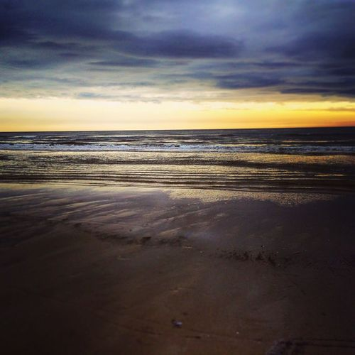 The Beach of Vejers, Denmark Horizon Over Water Sky Water Beauty In Nature Beach Sunset Cloud - Sky Sand No People Outdoors Wave IPhone 6s First Eyeem Photo Nature Midskov Photooftheday EyeEm Nature Lover EyeEmNewHere EyeEm Best Shots - Landscape Vejersstrand