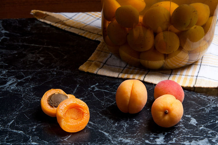 Citrus Fruit Close-up Cross Section Focus On Foreground Food Food And Drink Freshness Fruit Halved Healthy Eating High Angle View Indoors  No People Orange Orange - Fruit Orange Color Ripe SLICE Still Life Table Wellbeing