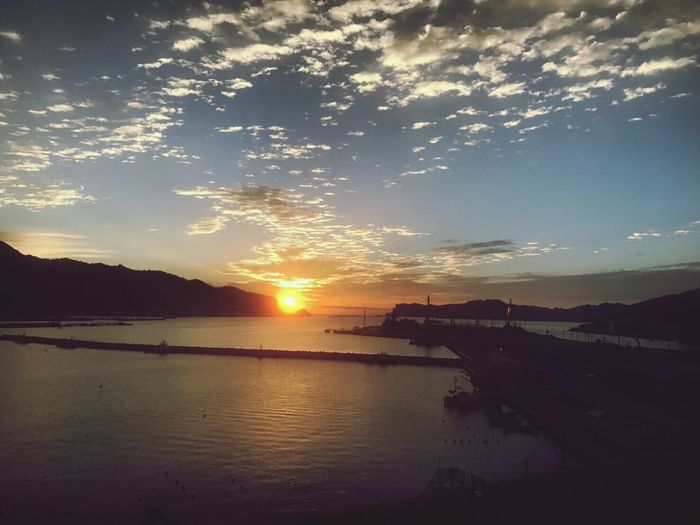 Fukusima Japan Earth Earthquake In Japan Sunset Water Sea Beauty In Nature Sky Nature Scenics Cloud - Sky Tranquility Outdoors Sun No People Nautical Vessel Mountain Day