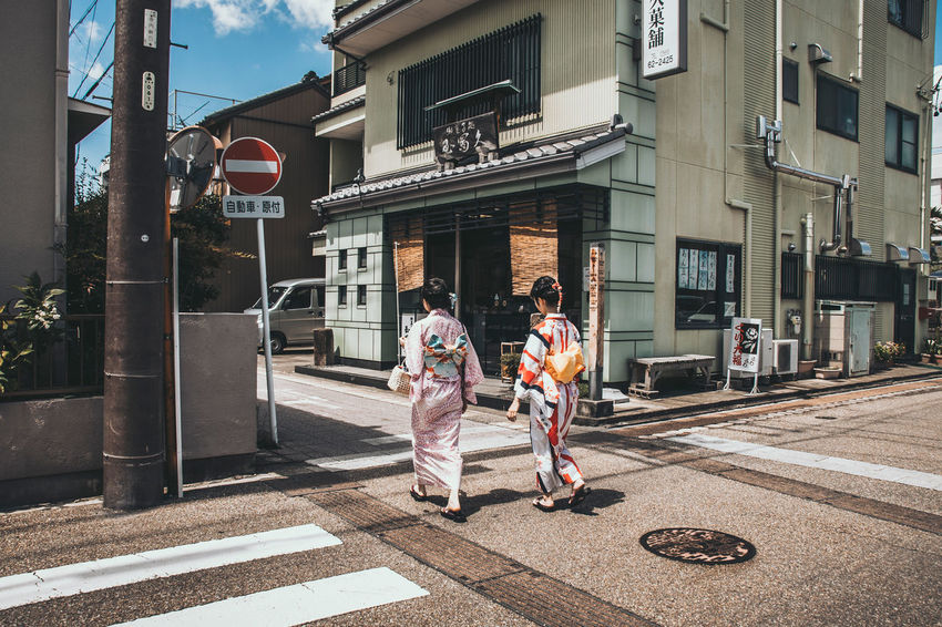 Streetshot in Inuyama, Japan Inuyama Japan Tree Trip YUKATA Architecture Built Structure City Clothes Girl Street Traditional Dress Walking Women 日本 浴衣 犬山 町
